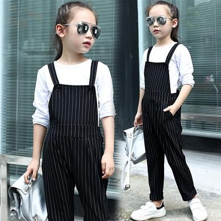 Kid's Black Overalls