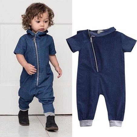 Kids Denim Romper Outfit