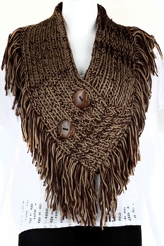 Knitted Buttoned Scarf