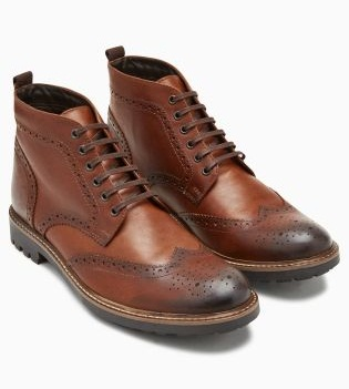 Lace Up Style Tan Brogue