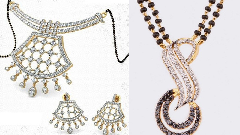 Latest Diamond Mangalsutra Designs for Wedding