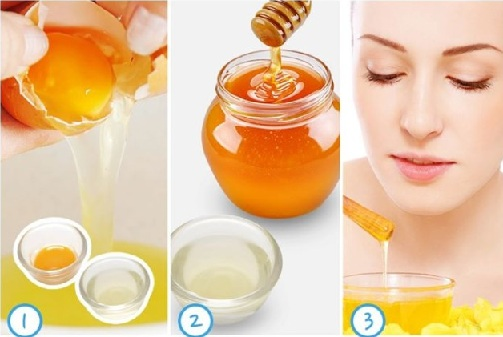 Lemon, Honey, Egg white Skin Tightening Face Mask for Combination Skin