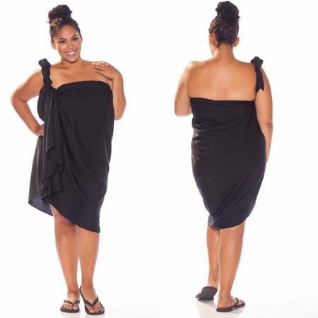 Light Weight Black Sarong