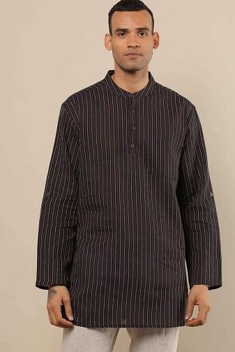 Long Shirt Kurta With Roll Up Sleeves