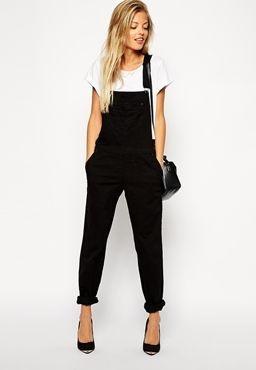 Long Black Overalls