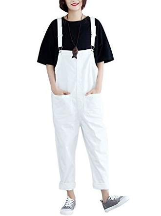 Loose Baggy Cotton Overalls