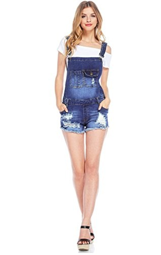 Machine Women's jean Short Overall