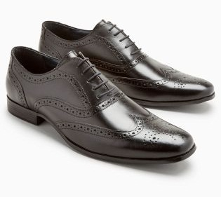 Men's Black Oxford Brogues