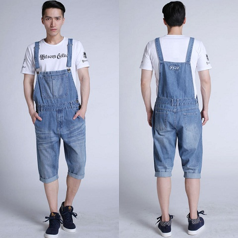 Men's knee Length Jean Overall