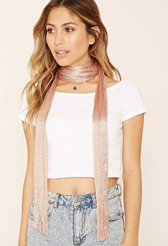 Metal Knit Summer Scarf
