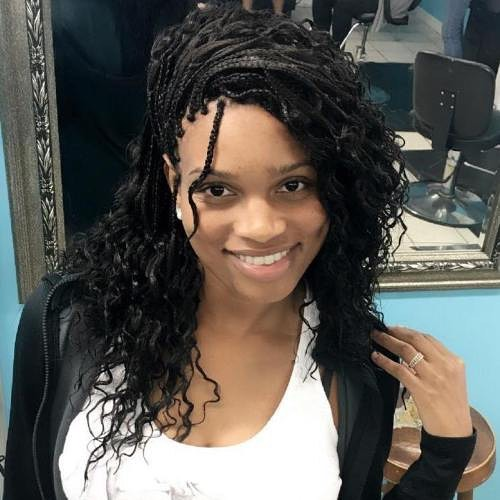 Micro Braids with Curls