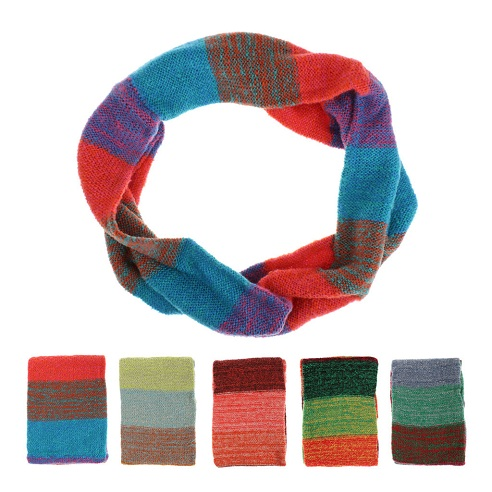 Multi-Color Wool Snood Scarf