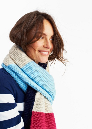 Multi Colour Knitted Scarf