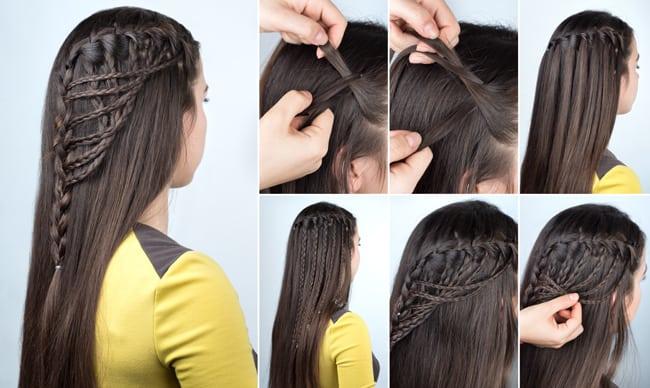 Multiple Waterfalls Tiny Braid Hairdo