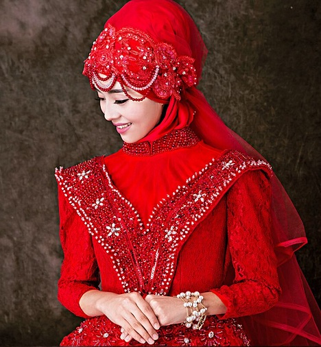 Muslim Bridal Veil Head Dress