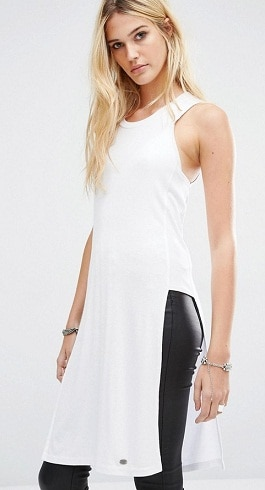 Noisy May White Tunic Top in Long