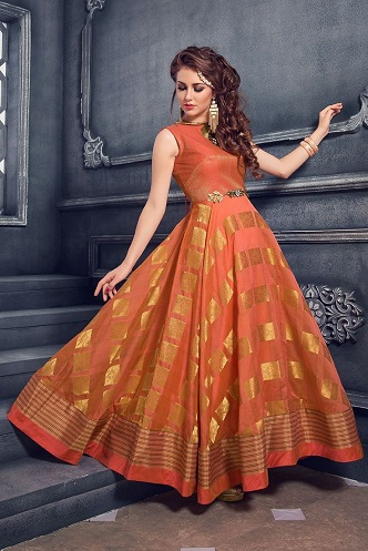 9 Beautiful And Attractive Orange Frocks For Women