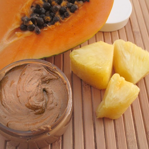 Papaya and Pineapple Skin Rejuvenation Mask