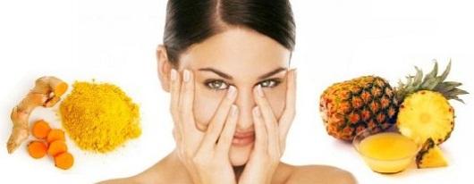 Pineapple juice face mask