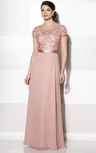 Pink Long Wedding Dress