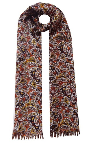 Printed Men's Silk Scarf