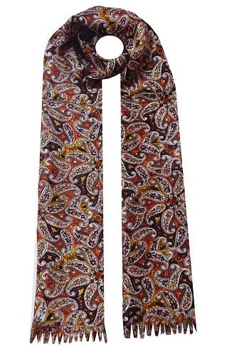 Printed Men's Silk Scarf