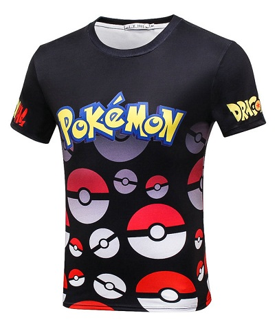 c6eaf93b This t-shirt of Pokémon is printed with its trademark font name. No other  images are depicted here except the text. They are preferably worn by men.