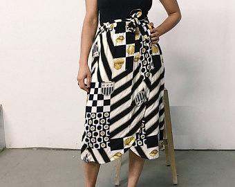 Printed Sarong Skirt