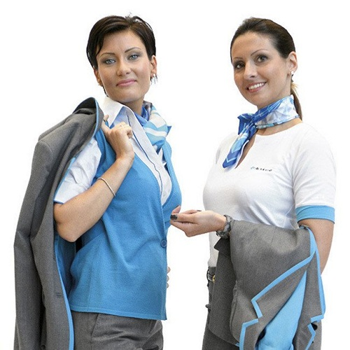 Printed Scarf as Uniforms