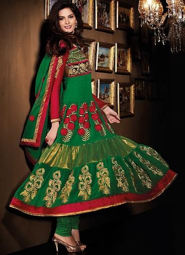 green salwar kameez designs