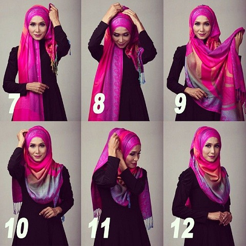 9 Modern Arabic Hijab Styles For Women Step By Step ...