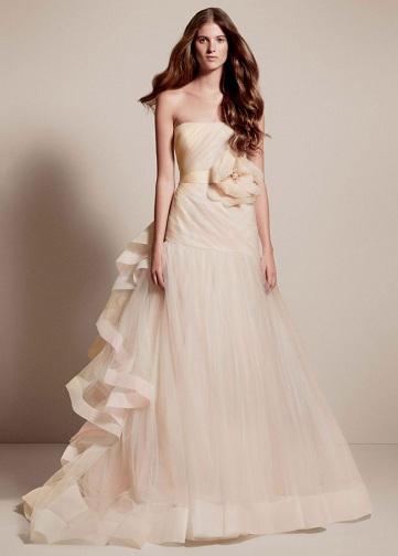 Satin Long Wedding Dress