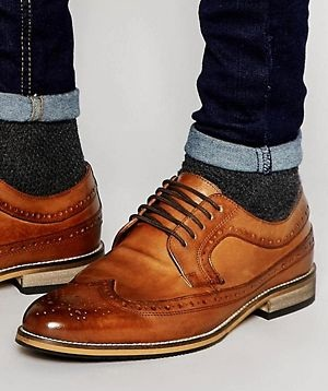 Shiny Tan Brogue
