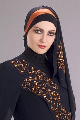 Side Slant Hijab Style