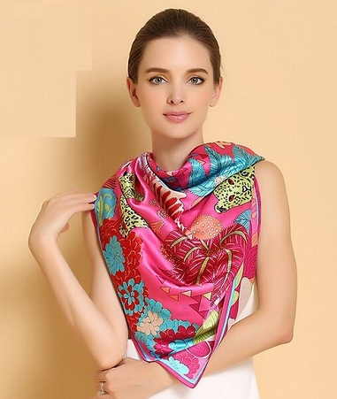 Silk Printed Scarves for Women