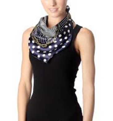 Silk square Neck Scarf