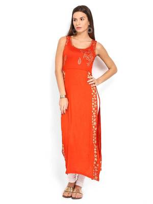 Sleeveless Branded Long Kurtis