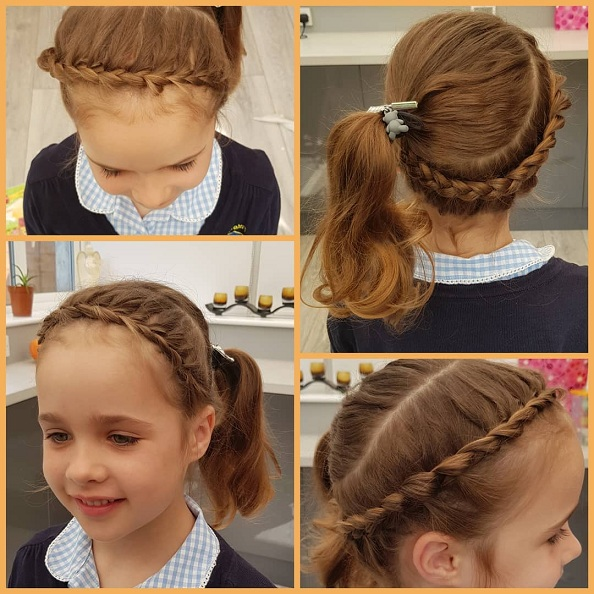 Smooth and Polished Hairstyle for Middle School Girls