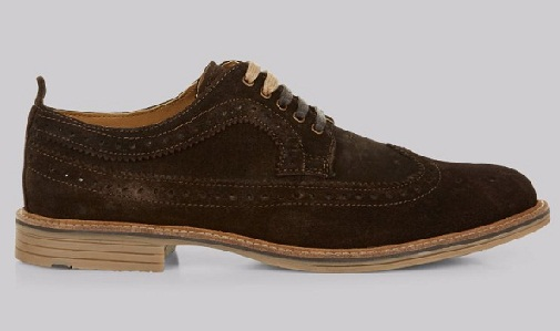 Suitable Brown Suede Brogues