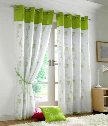 design practical ideas curtain interior modern window designs airy green curtains