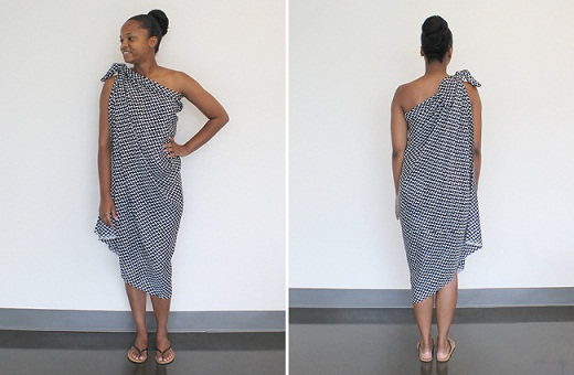 Tie Sarong Dress Over the Shoulder