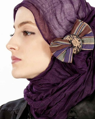 Trendy Hijabs with Bows And Brooches