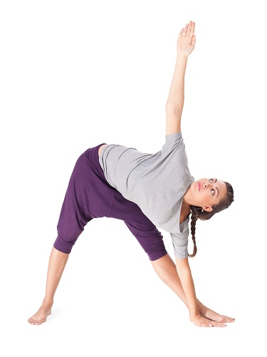 Trikonasana or the Triangle Pose