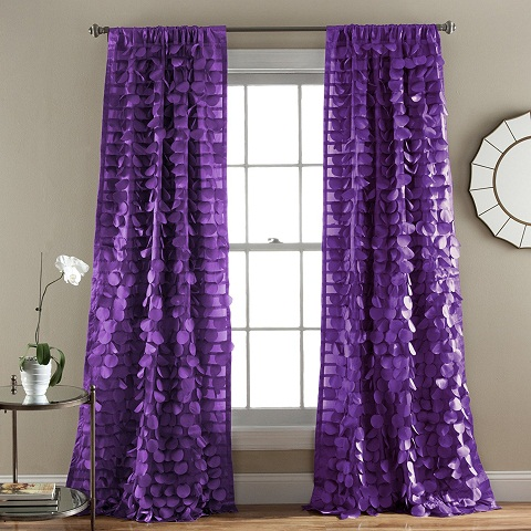 Unique Look Purple Curtains
