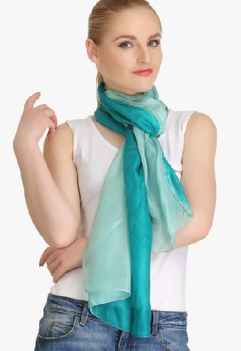 Green Ombre Silk Scarf