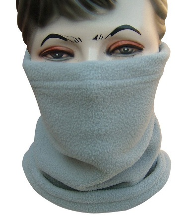 Warm Grey Neck Snood Scarf