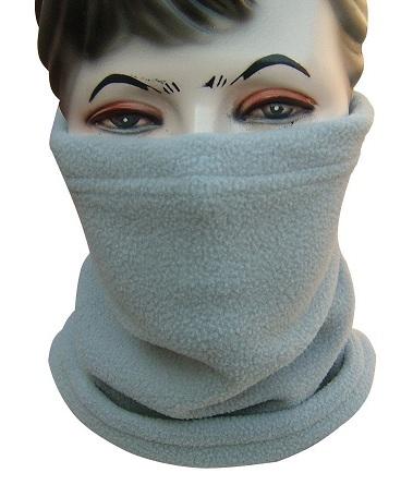 Warm Grey Neck Snood Scarf