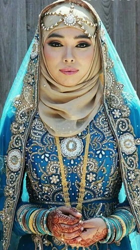 Wedding Hijab Saree