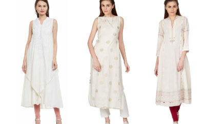 White Kurti Designs and Patterns For Women