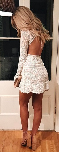 The dress featured in the picture above is a primary example. This backless  white ... 89d8bc32c